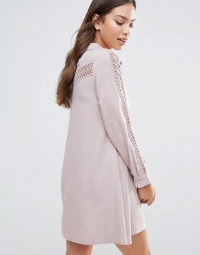 photo Shirt Dress by Glamorous, color Dusty Lilac - Image 2