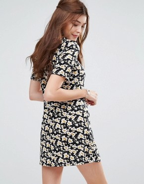 photo Swing Dress In Grunge Floral by Glamorous, color Black - Image 2