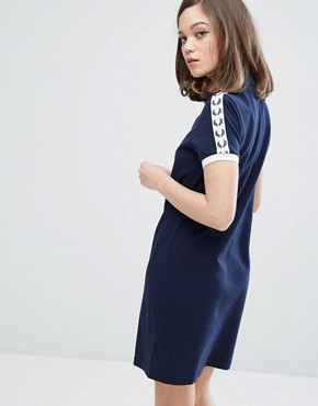 photo Archive Taped Polo Shirt Dress by Fred Perry, color Carbon Blue - Image 2