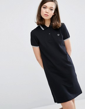 photo Twin Tipped Dress by Fred Perry, color Black - Image 1
