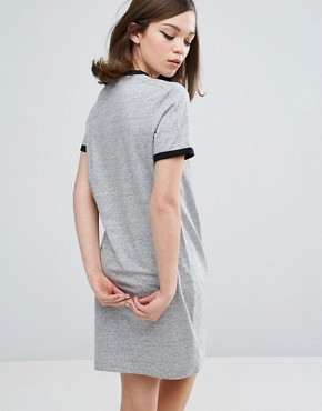 photo Authentic Ringer T Shirt Dress by Fred Perry, color Grey - Image 2