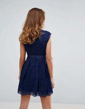 photo Lace Dress by Sisley, color Navy - Image 2