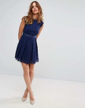 photo Lace Dress by Sisley, color Navy - Image 4