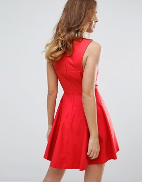photo Skater Dress by Sisley, color Red - Image 2