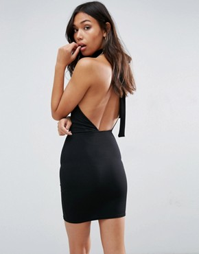photo One Shoulder Mini Dress by Oh My Love, color Black - Image 2