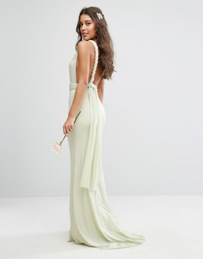 photo Multiway Maxi Dress by TFNC WEDDING, color Green - Image 2