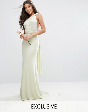photo Multiway Maxi Dress by TFNC WEDDING, color Green - Image 1