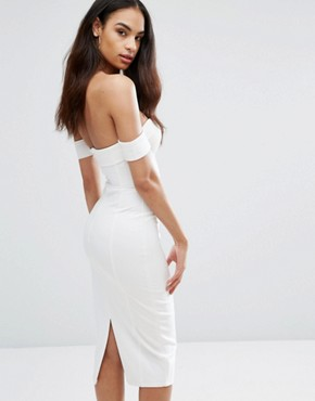 photo Structured Sweetheart Pencil Dress by Misha Collection, color Ivory - Image 2
