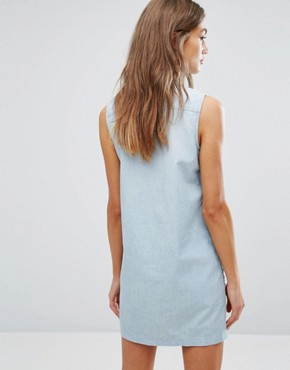 photo 70s Sleeveless Western Dress by Levis, color Blue - Image 2