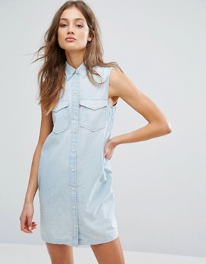 photo 70s Sleeveless Western Dress by Levis, color Blue - Image 1