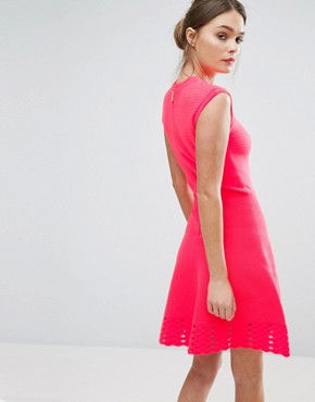 photo Zaralie Skater Dress by Ted Baker, color Orange - Image 2