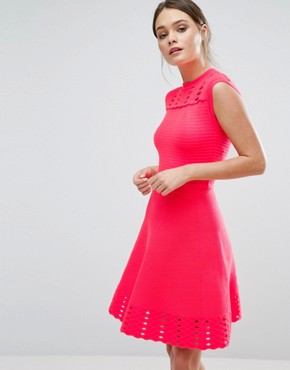 photo Zaralie Skater Dress by Ted Baker, color Orange - Image 1
