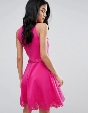 photo Zaffron Skater Dress by Ted Baker, color Fuschia - Image 2