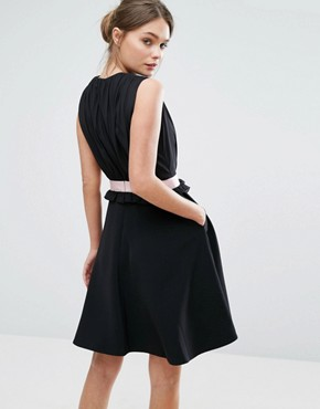 photo Vexi Skater Dress by Ted Baker, color Black - Image 2