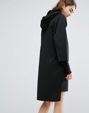 photo Oversized Sweat Hooded Dress by Cheap Monday, color Black - Image 2