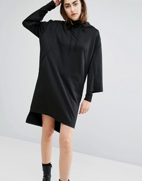 photo Oversized Sweat Hooded Dress by Cheap Monday, color Black - Image 1