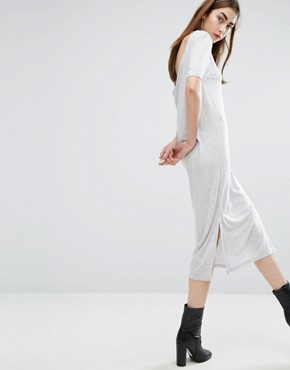 photo Scoop-Back Long Jersey Dress by Cheap Monday, color Grey - Image 2