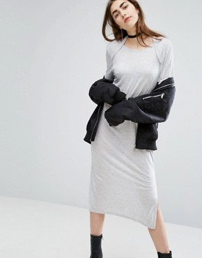 photo Scoop-Back Long Jersey Dress by Cheap Monday, color Grey - Image 1
