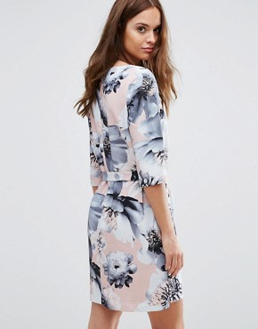 photo Printed 3/4 Dress by Selected Femme, color Flower Print - Image 2