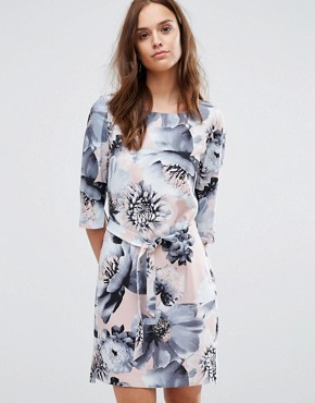 photo Printed 3/4 Dress by Selected Femme, color Flower Print - Image 1