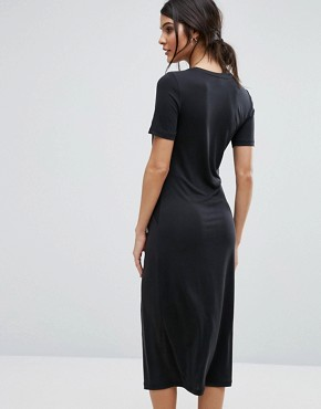 photo Jersey Twist Dress by Selected Femme, color Black - Image 2