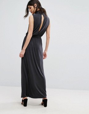 photo Holly Open Back Maxi by Selected Femme, color Black - Image 2