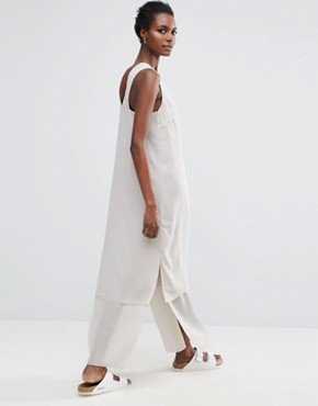 photo Cory Cross Back Dress by Selected Femme, color Grey - Image 2