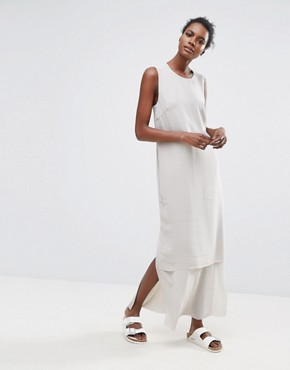 photo Cory Cross Back Dress by Selected Femme, color Grey - Image 1