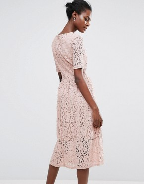 photo Rose Lace Dress by Selected Femme, color Rose - Image 2