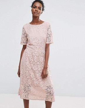 photo Rose Lace Dress by Selected Femme, color Rose - Image 1