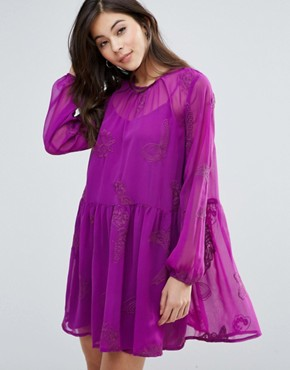 photo Myrtle Smock Dress by Little White Lies, color Pink - Image 1