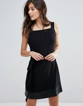 photo Indiana Tie Waist Dress by Little White Lies, color Black - Image 1