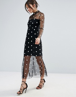 photo Alexander Maxi Dress by Little White Lies, color Black - Image 1