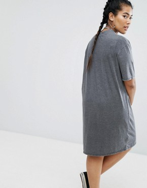 photo Band Tee Jersey Dress by Daisy Street Plus, color Grey - Image 2