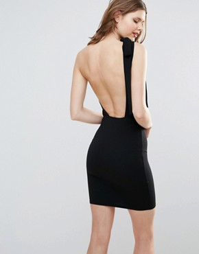 photo One Shoulder Mini Dress by Oh My Love Tall, color Black - Image 2