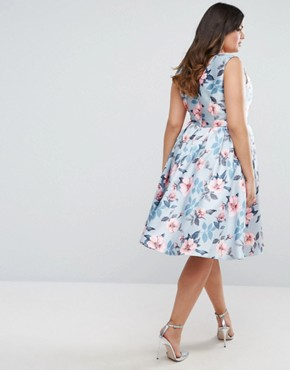 photo Floral Prom Dress by Chi Chi London Plus, color  - Image 2