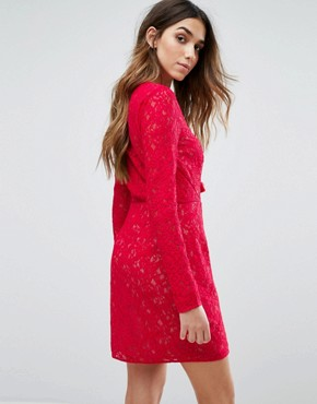photo Zamira Mini Dress by The Jetset Diaries, color Red - Image 2