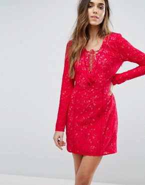 photo Zamira Mini Dress by The Jetset Diaries, color Red - Image 1