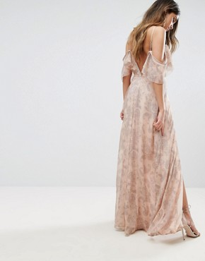 photo Sublime Illusion Maxi Dress by The Jetset Diaries, color Beige - Image 2