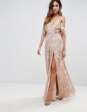 photo Sublime Illusion Maxi Dress by The Jetset Diaries, color Beige - Image 1