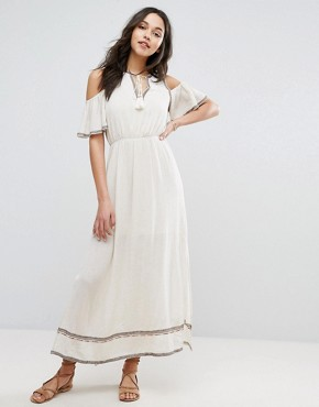 photo Embroidered Maxi Dress by Moon River, color Natural - Image 1