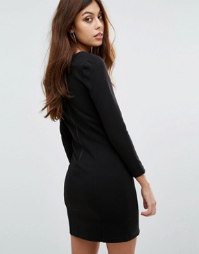 photo Lula Stretch Bodycon Colourblock Dress by French Connection, color Black - Image 2