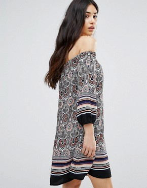 photo Paisley Print Off The Shoulder Dress by Girls on Film, color  - Image 2