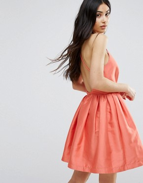 photo Fit and Flare Prom Dress by Girls on Film, color Coral - Image 2