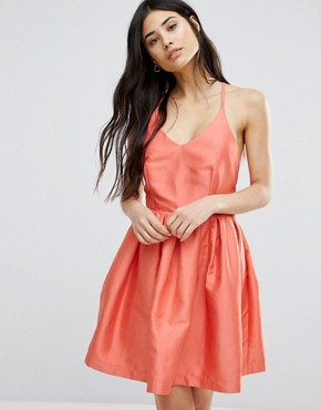 photo Fit and Flare Prom Dress by Girls on Film, color Coral - Image 1