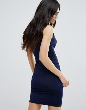 photo Dress with Ruched Front by Girls on Film, color Navy - Image 2