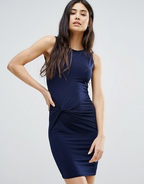 photo Dress with Ruched Front by Girls on Film, color Navy - Image 1