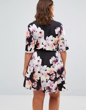 photo Wrap Floral Dress by Pink Clove, color  - Image 2