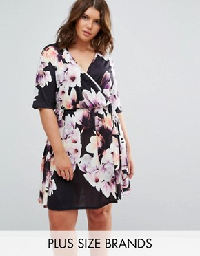 photo Wrap Floral Dress by Pink Clove, color  - Image 1