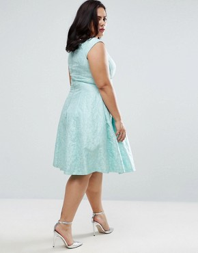 photo Bardot Jacquard Dress by Coast Plus, color Mint - Image 2